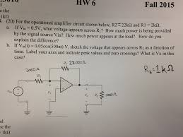 for the operational amplifier circuit shown below chegg com