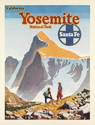 Arizona Travel Posters images Santa fe railway yosemite original american poster from 1949 by jpg