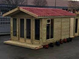 Gardens With Summer Houses - summer house shed attached combo storage combination
