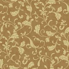 metallic gold u0026 gold tuscan leaf scroll wallpaper