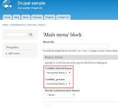 Theme Drupal Menu Block | how to create horizontal menus in drupal billionanswers