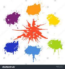 set color splashes collection paint splash stock vector 235064482