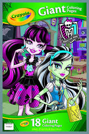amazon com crayola monster high giant coloring pages toys u0026 games
