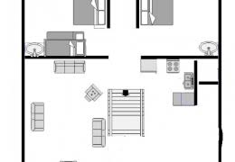 cabin layout loon cabin root river trail cabin rentals at cedar valley resort