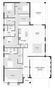 One Storey House Plans Narrow Lot Roomy Feel Hwbdo75757 Tidewater House Plan From Wide