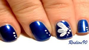 easy one stroke butterfly nail art youtube
