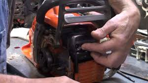 the chainsaw guy shop talk repair husqvarna 350 chainsaw muffler