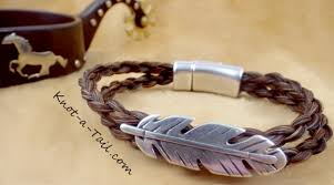 magnetic clip bracelet images Horse hair bracelet hand braided with magnetic clasp easy on off JPG