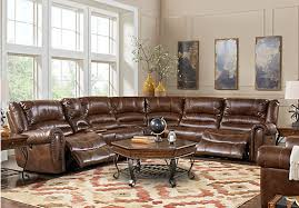 Cheap Sectional Living Room Sets Tacoma Valley Brown 9 Pc Power Reclining Sectional Living Room