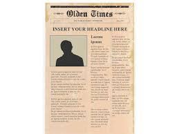 news report template editable newspaper template portrait