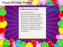 happy birthday wishes powerpoint ppt templates