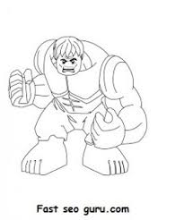 free print lego superheroes hulk coloring pages kids