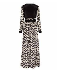 day birger day birger et mikkelsen black chevron silk blend maxi dress in