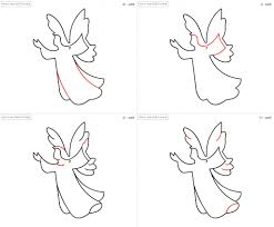 angel drawing step by step how to draw a cartoon christmas angel