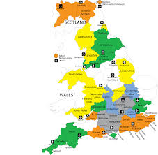 England County Map by English Courses In The Uk