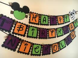 halloween happy birthday pictures mickey mouse inspired happy birthday banner or happy halloween