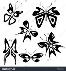 design tattoo butterfly set tattoo butterfly stock vector 60460561 shutterstock