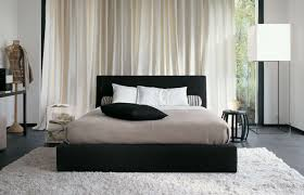 Black And Brown Rugs Bedroom Large Black White Bedroom Decor With Black Fluffy Rug