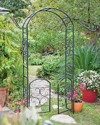 nice design metal arbor with gate amazing 1000 ideas about metal
