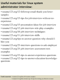 Linux Administrator Resume 1 Year Experience Top 8 Linux System Administrator Resume Samples