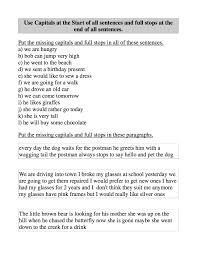 capitalization and punctuation worksheets free teacher worksheets