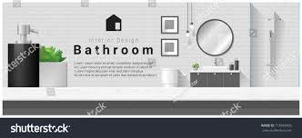 interior design table modern bathroom stock vector 713943409