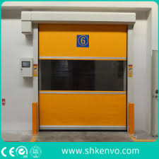 Overhead Rolling Doors China Automatic Industrial Pvc Fabric Rapid Acting Rubber Rolling