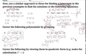 solving polynomial equations worksheets youtube