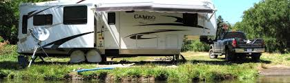 towing is answer when rv is at camp