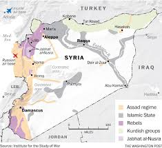 Damascus Syria Map Syria Violence Map