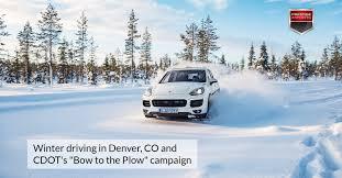 porsche snow winter driving in denver co and cdot u0027s