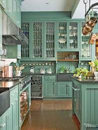 Green Cabinet Kitchen Tip 1st We Updated The Builder Grade Cabinet Into A Floating