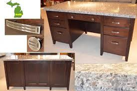 Granite Computer Desk Michigan Granite Executive Desk Jasen S Furniture Since 1951