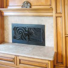 modern fireplace custom doors fireplace door guy