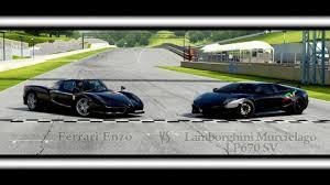 enzo vs lamborghini aventador forza motorsport 4 battle s1 e16 lamborghini murcielago lp670