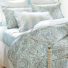 Pottery Barn Toile Bedding Bandana Blue And Red Reversible Duvet Cover