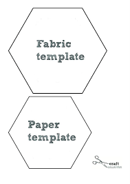 4 inch hexagon template