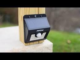 mpow solar light instructions new mpow super bright led solar powered motion sensor light test