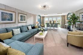 deep blue sofa fills the living room with cheer eva furniture
