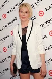 michelle williams debuts new haircut at kate young for target