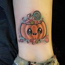 25 cute pumpkin tattoos