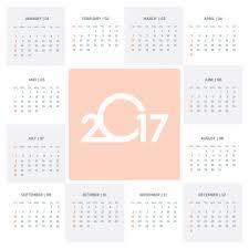 cute calendar 2017 vector free download
