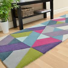 Blue Rug Runners For Hallways Funk Chevron Hallway Runners In Blue And Green Free Uk Delivery
