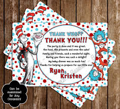 novel concept designs dr seuss cat in the hat baby shower thank you