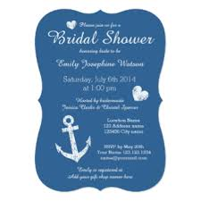 Nautical Bridal Shower Invitations Nautical Invitations U0026 Announcements Zazzle Canada