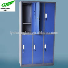 custom made metal storage cabinets china factory custom made 6 door clothes storage cupboard design 2
