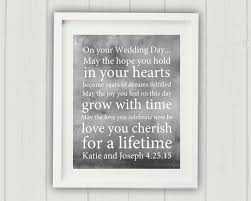 wedding gift quotes for money wedding blessing print personalized wedding gift unique
