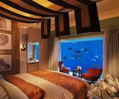 chambre aquarium aquarium mural chambre dar déco décoration intérieure maison tunisie