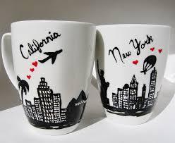 california gifts california and new york skyline coffee mug distance