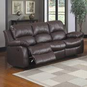trent home cranley double reclining leather sofa in black
